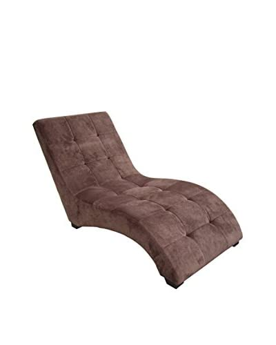 ORE International Modern Chaise, Brown As You See