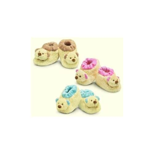 Pink Baby Booties Teddy Bear Russ Baby Toys & Games