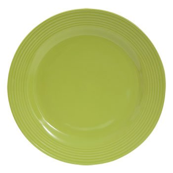 "Royal Norfolk - Santa Fe Lime Green Solid Stoneware Dinner Plate, 10 1/2"""