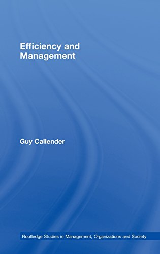 Efficiency and Management (Routledge Studies in Management, Organizations and Society)