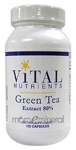 Green Tea Extract 275 mg 120 Capsules by Vital Nutrients