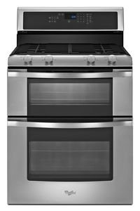 "Whirlpool Wgg555S0Bs 30"" Stainless Steel Gas Sealed Burner Double Oven Range - Convection"