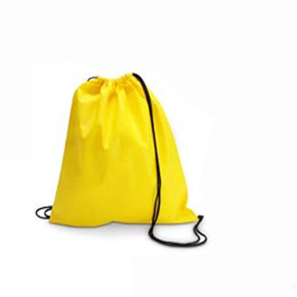 Yellow Drawstring Bag Backpack Rucksack School Book Bag Sport Gym Swim PE Football Karate Ju-Jitsu Running Swimming Boxing Judo Netball Bag 'Brand New'