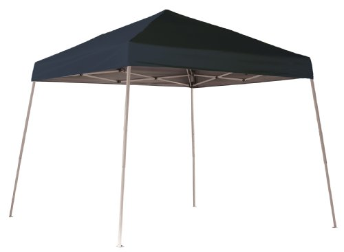 ShelterLogic 10x10 Slant Leg Popup Canopy with Roller Bag (Black)