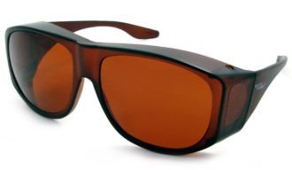 Solar Shield Fits-Over Sunglasses - SS Polycarbonate II Amber / SOLAR SHIELD II AMBER POLYCARBONATE LENSES-29008AMBER