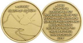 Never Alone Again- Bronze Medallion