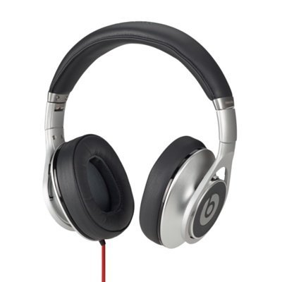 Beats By Dr. Dre Executive Headphones (Silver) Bundle With Beats Cable With Microphone And Custom Designed Zorro Sounds Cleaning Cloth