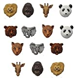 Pack of Novelty Dress it up Buttons, Animal world, Zoo Pack, for Sewing, Scrapbooking, Embelishments, Crafts, Knitting,