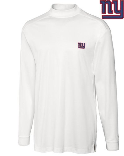 NFL New York Giants Men's CB DryTec Long Sleeve Imperial Mock, Large, White at Amazon.com