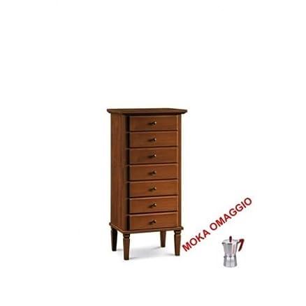 CLASSICO cassettiera mobile 7 cassetti arte povera soggiorno sala ingresso 529 49x38x107