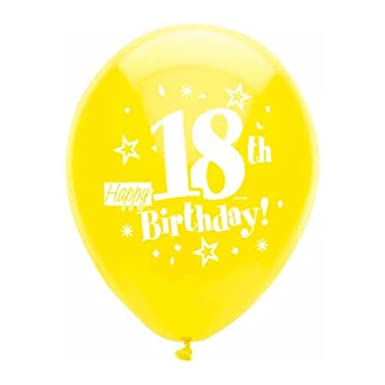Happy 18th Birthday Balloons