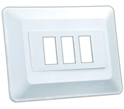 JR Products Triple Switch Base and Face Plate