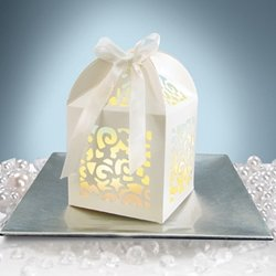 Tea Light Or Favor Box With Ribbon, 3 X 4 In., 12 Pack