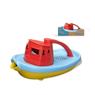 Green Toys My First Tug Boat, Red Top, 1 Ea