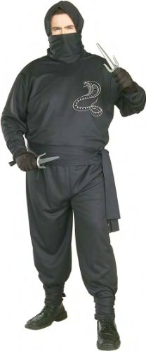 Plus Size Adult Ninja Costume - Mens Full