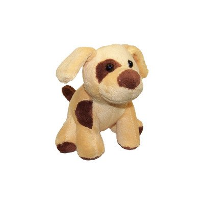 Molly P. Originals Puddles The Pooch Plush Dog, Brown/Brown, 5""