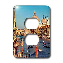 Vacation Spots - Venice Italy - Light Switch Covers - 2 plug outlet cover