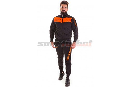givova-visa-fluo-survetement-xl-nero-arancio-fluo