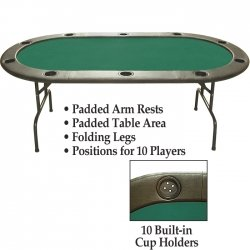 Trademark Poker 96-Inch Hold'em Table without Dealer Position