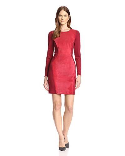 Single Women's Suede Combo Dress