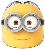 Official despicable me 2 mask dave minion wear a two eyed dave mask to