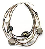 Per Una Assorted Bead Multi-Strand Necklace