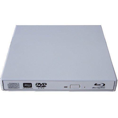 Epartsdom@Usb 2.0 Slim Usb External Blu-Ray Player External Usb Dvd Rw Laptop Burner Drive White