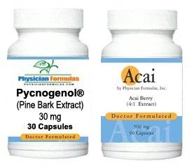 Free Acai, 500mg, 90 Capsules w/ Pycnogenol Pine