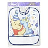 Plastic Bib Winnie the Pooh 1st Birthday Day Boy 13.25h X 11l