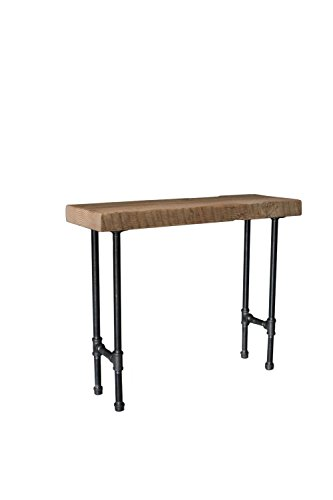 Reclaimed Barn Wood Console Table with Steel Pipe Legs (Reclaimed Wood Console Table compare prices)