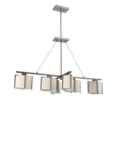 Nuvo Lighting Portia 6-Light Island Pendant, Hazel Bronze
