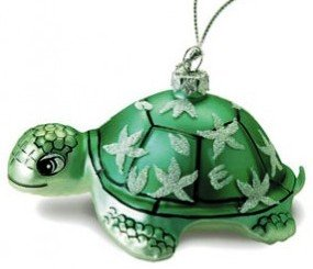 Hawaiian Glass Christmas Ornament - Honu Turtle