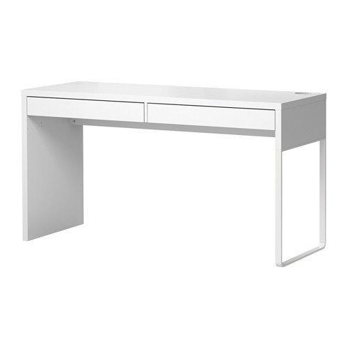 IKEA-MICKE-Schreibtisch-in-wei-142x50cm