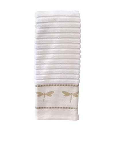 Creative Bath Dragonfly Jacquard Hand Towel, Beige/White