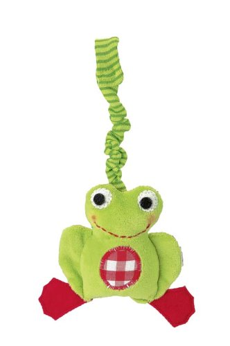 Kathe Kruse 4'' Stuffed Rattle, Frog Chopin