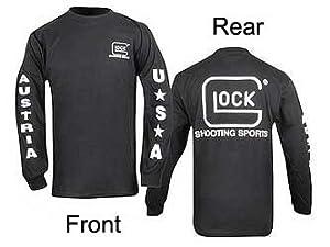 GLOCK Shooting Sports Shirt, Long Sleeve, Crew Neck, Black, Medium