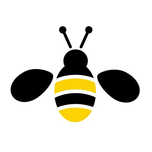 Bee Stencil For Painting Bees On The Walls And Furniture Of A Girls Garden Room front-1003921