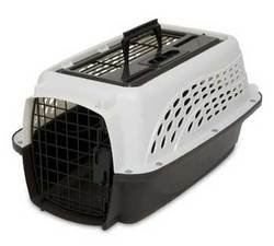 Petmate 2 Door Top Load Kennel - White/Coffee - 19 in., Smal