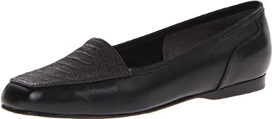 Enzo Angiolini Women's Liberty Slip-On Loafer,Black/Black Leather,6 M US