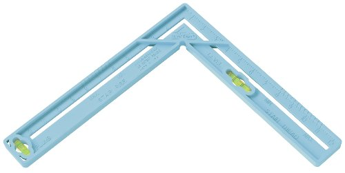 Level Best 193 12-Inch 4-in-1 Multi-Tool Square with Level Vials, Blue