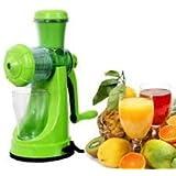 Kuber Industries Juicer, Fruit & Vegetable Juicer, Manual Hand Juicer, Fruit Juicer Handel Vacuum Base (Green)-JUI01