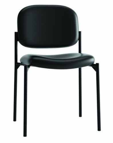 Basyx by Hon Hvl606 Guest ChairChair, Black SofThread Leather