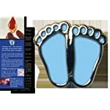 "Pro-Life ""Precious Feet"" Lapel Pin - Blue"
