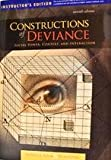 img - for Constructions of Deviance (7th edn), Instructor's Edition book / textbook / text book