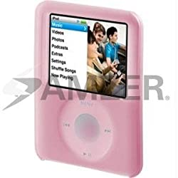 Amzer 80536 Skinase - Pink for iPod Nano 3rd Gen