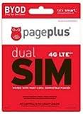 Page Plus Dual Purpose 4G LTE Sim Card Kit Micro and Regular for Verizon 4G LTE Phone