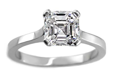 14k White Gold GIA Certified Asscher Cut Diamond Engagement Ring (3.16 Ct, H Color, VS1 Clarity) Free Ring Sizing
