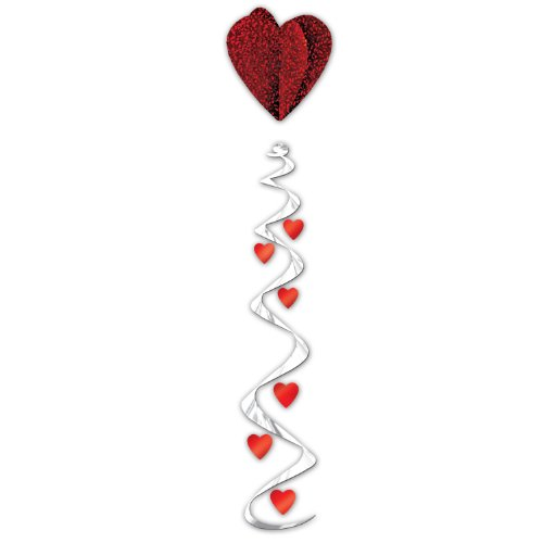 Jumbo Heart Whirl Party Accessory (1 count) (1/Pkg)