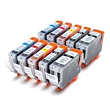 PGI-5, CLI-8 Canon Compatible Printer Ink Cartridges for Pixma MP500, MP530, MP600, MP600R, MP610, MP800, MP800R, MP810, MP830, iP4200, iP4300, iP4500, iP5200, iP5200R, iP5300, Printer Inks, MP 500, MP 530, MP 600, MP 600R, MP 610, MP 800, MP 800R, MP 81