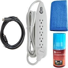 Belkin HD Essentials Kit - 6 ft HDMI Cable 6-Outlet Surge Protector HD Cleaning Kit from Belkin Components